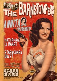 The Barnstompers /Annita and The Starbombers in Stars and Bars te Delft