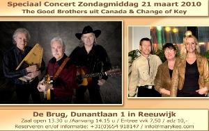 Concert Change of Key en The Good Brothers