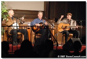 l. Bob Siggins m. Geoff Muldaur and r. Jim Kweskin
