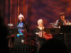Kate and Anna McGarricle and Chaim Tannenbaum