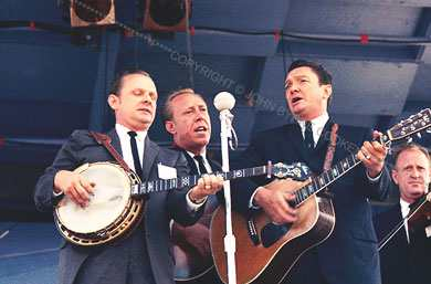 The Stanley Brothers - l.t.r - Ralph Stanley, George Shuffler en Carter Stanley