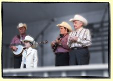 Isaac Moore on stage with Ralph Stanley & Clinch Mountain Boys