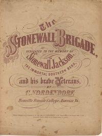 The Stonewall Jackson Brigade - bladmuziek uit 1863