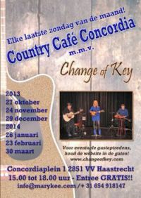 Change of Key at Cafe Concordia Haastrecht - The Place to Be
