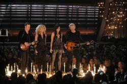 Little Big Town on stage with song