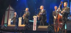 The Gibson Brothers line-up with Jesse Brock on te right at the Grand Ole Opry