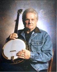 Ralph Stanley with banjo
