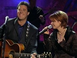 Vince Gill & Patty Loveless on stage