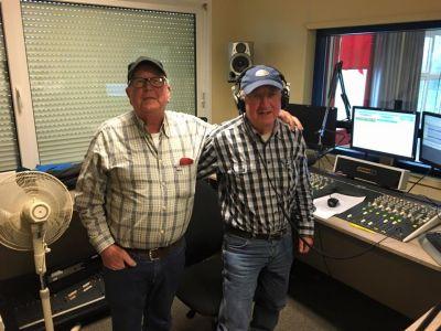 Leen en Jan in de 3e opname studio RTV Krimpenerwaard.