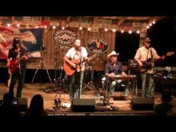Cody Jinks & The Tone Deaf Hippies on stage in Luckenbach TX